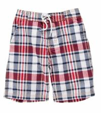 Gymboree 4th of July plaid shorts New NWT boys size 6 12 months red white blue