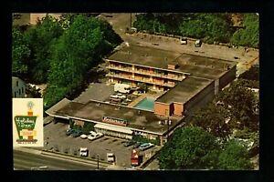 Holiday Inn Motel Hotel Postcard South Carolina SC Sumter restaurant aerial cars