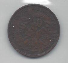 **1856**Nova Scotia Half Penny Token, Coin Mart Graded**F-15**