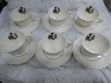 Pope Gosser China USA Rose Point CHATEAU - 6 Cups & Saucers