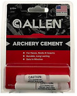 Allen Archery Cement 2 pack #6752A for Vanes, Nocks & Inserts sets in minutes