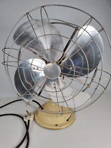 Large Vintage Limit 16'' Fan Oscillating Project or Spares Original Made England