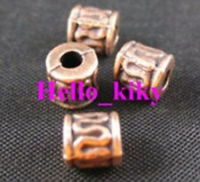 120Pcs  Antiqued Copper plt wire curved tube spacers A30