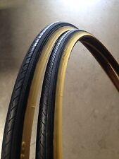 (2xTires) 700x25c Black Gumwall Bicycle Tires-Road Bike, Fixie