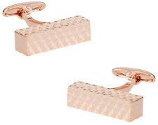 Diamond Bar Rose Gold Cufflinks Direct from Cuff-Daddy