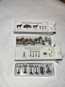 Liberty Falls Miniature Accessory Sets The Americana Collection Gas Lamp AH50 51
