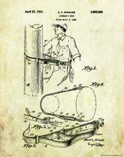 Power Lineman Patent Print Cable Rigger Journeyman School Office Wall Art Decor