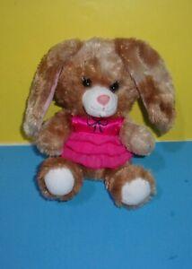 Build a Bear Bunny Smallfrys Buddies Rabbit Plush Doll Stuffed Animal Pink Dress