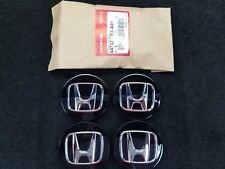 SET OF 4 NEW GENUINE HONDA BLACK WHEEL CENTER CAPS W/ CHROME H 44732-TR3-A01