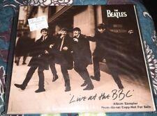 Beatles LIVE AT THE BBC 1994 Apple Sampler Promo CD Original Mono +Fold-Out MINT