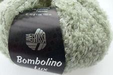 Bombolino LUX 50g lana grossa elegante bouclegarn FB 007 sottilmente Verde/Argento Lana