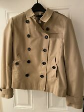 Womens BURBERRY Double Breasted Short TRENCH Coat Mac Size 16