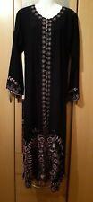 Ladies Abaya/Jilbab/Maxi Black Floral in size m