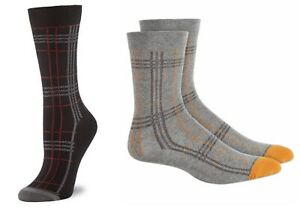 Hue Women's Plaid Crew Socks  One Size