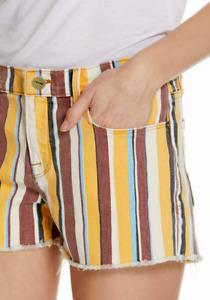 FRAME Le Cutoff Denim Shorts Painterly Stripe NWT $215