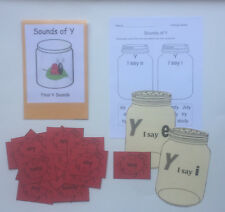 Teacher Made Literacy Center Learning Resource Game Sounds of Y