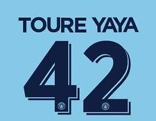 Toure Yaya 42 Manchester City 2016-2017 Taza local para Hogar Camiseta De Fútbol