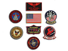 Top Gun Fighter ( Pete Mitchell ) Tactics Iron On Patch Set - 8 Embroidered