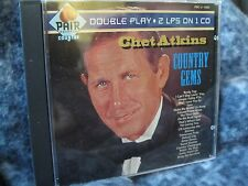 "CHET ATKINS ""COUNTRY GEMS"" CD DOUBLE PLAY 2 LPS ON 1 CD PAIR RECORDS COUNTRY"