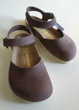 new BIRKENSTOCK Leather Ankle Strap Sandal Clog MESSINA Habana-brown 37 US6 UK4