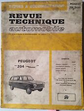 b)RTA Revue Technique Automobile 1972; Peugeot 504 Diesel