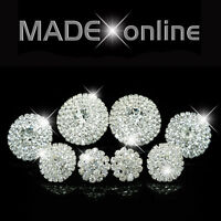 Round Circle Diamante Diamonte Stud Earrings Sparkle Bling