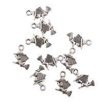 10pcs flying on broomstick Tibetan Silver Bead charms Pendants fit bracelet