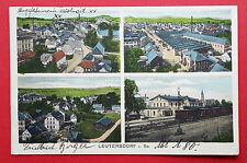 AK LEUTERSDORF bei Neugersdorf 1926 Ortsansichten mit Bahnhof  ( 17030