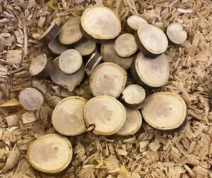 40Pcs Round Wood log Slices Discs 1-3cm DIY Craft For Party Wedding Easter Kids