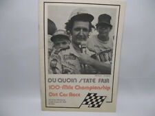 Duquoin State Fair 1976 100 mile champ dirt car race program USAC
