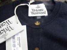 navy wool CARDIGAN 100% VIVIENNE WESTWOOD orb monogram logo'd buttons med bnwt