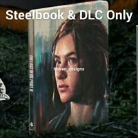 (NO GAME) STEELBOOK CASE DLC Ellie Edition Last of Us Part II 2 PS4 Playstation