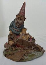 Vintage Tom Clark Gnome 1985 Taylor Wheelbarrow Buttons Thread Figurine #61