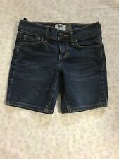 Old Navy Girls Size 5 Denim Shorts Blue Adjustable Waist Bermuda Style