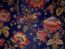 Mill Creek Raymond Waites Floral LAPIS BLUE Home Decor Drapery Sewing Fabric BTY