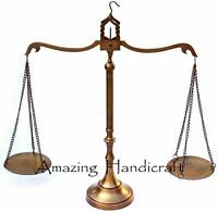 """Vintage Balance Scale Antique Brass Weight & Measure Justice Lawyer Office 23"""""""