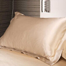 Solid Queen/Standard Silk Satin Pillow Case Bedding Pillowcases Smooth Home Hot