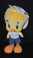 Peluche doudou Titi jaune casquette Lacoste jeans pull blanc imprimé 30 cm BE