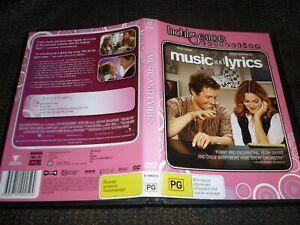 MUSIC FOR LYRICS - HUGH GRANT + DREW BARRYMORE (DVD, PG) (164191 A)