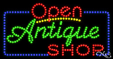 "New ""Open Antique Shop"" 32x17 Solid/Animated Led Sign W/Custom Options 25447"