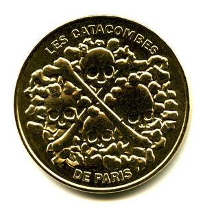 75014 Les Catacombes, 4 crânes et 2 tibias, 2021, Monnaie de Paris