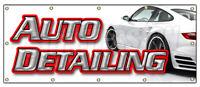 AUTO DETAILING BANNER SIGN car wash wax signs carwash