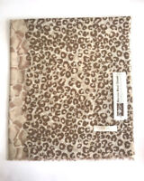 Posh Fleece Merino Wool Lightweight Shawl - Leopard Print