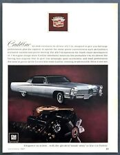 1968 Cadillac Coupe DeVille 472 V-8 Engine photo Luxury & Power vintage print ad
