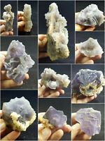 Fluorite Specimens Lot Natural Purple Blue Cubic Formation Crystals 4.2kg 11Pc