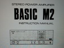 manuale utente amplificatore finale stereo Kenwood Basic M2 carta formato a4