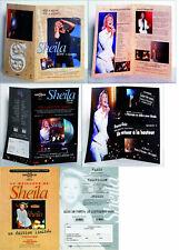 3 PLANS PROMOS SHEILA, format 21 X 29,7 cm