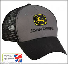 Vendedor Reino Unido Nuevos Originales John Deere carbón vegetal negro casquillo del camionero De Malla Tractor Sombrero