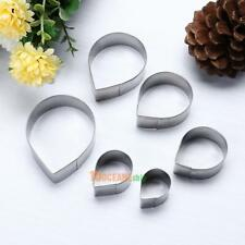 6pcs/set Stainless Steel Cake Fondant Molds Rose Flower Cutters Tools