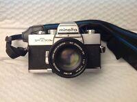 Minolta SRT303b 35mm SLR Film Camera rokkor pf Minolta 50mm lens Japan